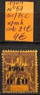 D - [836929]TB//*/Mh-c:21e-France (Ex Colonie) Martinique 1904 - N° 57, 10c/75c - Ungebraucht