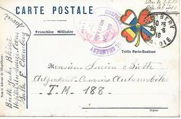73-cachet Hospices De Chambéry -Section Militaire Sur CP Militaire En 1916 - Marcophilie (Lettres)