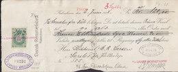 Denmark Bill Of Exchange DANSK REMMEFABRIK, KØBENHAVN 1923 Vexel LANDMANDSBANKEN Nytorv Afd. 50 Ø. Stempelmærke - Wechsel