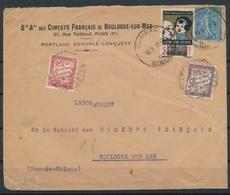 FRANCE Taxe 33 37 (o) Sur Lettre Taxée à BOULOGNE SUR MER (1933) Cinderella Vignette Tuberculose - 1960-.... Brieven & Documenten