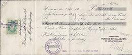 Denmark Bill Of Exchange HORSENS BLY-VALSEVÆRK 1921 Vexel BANKEN F. HORSENS Og OMEGN 25 Ø. Stempelmærke - Bills Of Exchange