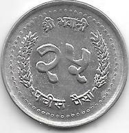 *nepal 25  Paisa VS2043 Km 1015.1  Unc - Népal