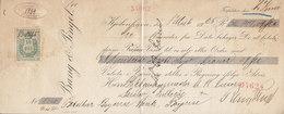 Denmark Bill Of Exchange BANG & PINGEL 1925 Vexel BOGENSE BANK 50 Ø. Stempelmærke - Bills Of Exchange
