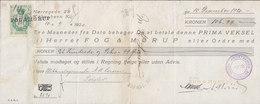 Denmark Bill Of Exchange FOG & MØRUP, KØBENHAVN 1920 Vexel PRIVATBANKEN Nørre Afd. 25 Ø. Stempelmærke - Bills Of Exchange