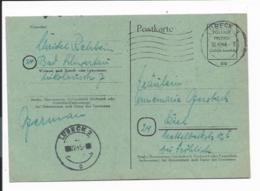 Brit.  Zone P 709 K - 6 Rpf Gebühr Bezahlt - Ganzsache, Lübeck Nach Kiel Bedarfsverwendet - Allemagne