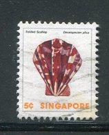 SINGAPOUR- Y&T N°263- Oblitéré (coquillages) - Singapour (1959-...)