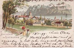 2785146Souvenir De Lausanne. Litho (poststempel 1899) (see Corners) - VD Vaud