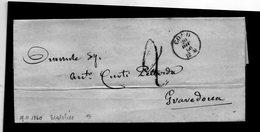 CG1 - Como - Piccolo Cerchio Sardo Ital  Tipo 7 - Lettera Per Gravedona 20/12/1860 - 1. ...-1850 Prephilately