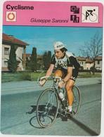 Vieux Papier : Fiche   Vélo - Cyclisme : Giuseppe  Saronni - Unclassified
