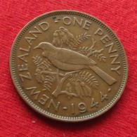 New Zealand 1 One Penny 1944 KM# 13  Nova Zelandia Nuova Zelanda Nouvelle Zelande - Neuseeland