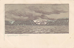 Spitzbergen - Westküste - Litho - Sign.             (A-158-190723) - Norwegen