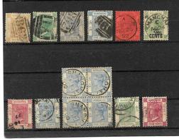 HONG KONG LOT 001 / Victoria Stamps 1862-1900 Cancelled Yokohama, Canton, Shaghai Etc. - Hong Kong (...-1997)