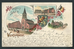 Welkenraedt. Gruss Aus. Litho Multivues. Circulé En 1899. Scan Recto/verso - Welkenraedt