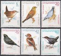 1987Bulgaria3607-3612Birds - Specht- & Bartvögel