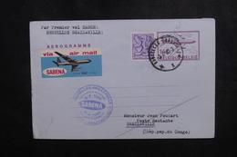 BELGIQUE - Aérogramme 1er Vol Bruxelles / Brazzaville En 1980 - L 50169 - Aerogrammes