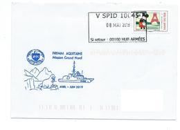 17383 - FREMM AQUITAINE - MISSION GRAND NORD 2019 - Cachet SPID 10045 - Posta Marittima