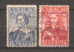 Curacao 1934 NVPH 109-110 Canceled - Curacao, Netherlands Antilles, Aruba
