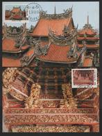 Taiwan R.O,China- Maximum Card – Taiwan Temples Architecture   (4V) 1982 - Buddhism