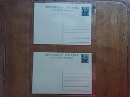 TRIESTE A - 2 Cartoline Postali Con Sovrastampa Differente (una Scritta) + Spese Postali - Storia Postale
