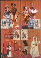 Taiwan R.O,China- Maximum Card –  Chinese Opera  (4V) 1992 - Theatre