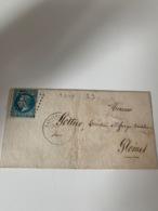 Lettre GC2609 NAPOLEONVILLE (PONTIVY) 54 Morbihan - 1863-1870 Napoleon III With Laurels