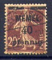 MEMEL  - 22° - TYPE SEMEUSE - Memel (1920-1924)