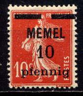 MEMEL  - 46* - TYPE SEMEUSE - Unused Stamps