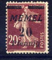 MEMEL  - 49** - TYPE SEMEUSE - Nuevos