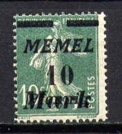 MEMEL  - 79** - TYPE SEMEUSE - Memel (1920-1924)