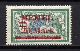 MEMEL  - 37** - TYPE MERSON - Memel (1920-1924)