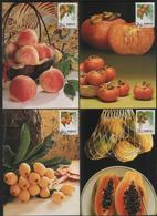 Taiwan R.O,China- Maximum Card – Taiwan Fruits  (4V) 1993 - Fruits