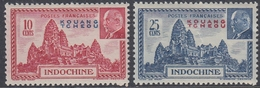 Kouang-Tcheou 1941 - Marshal Philippe Pétain: Angkor Wat Temple - Mi 173-174 ** MNH - Unused Stamps