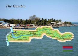 Gambia Country Map New Postcard Landkarte AK - Gambia