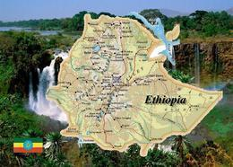 Ethiopia Country Map New Postcard Äthiopien Landkarte AK - Ethiopie