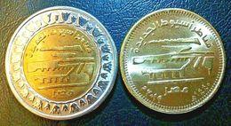 EGITTO EGYPT 1 POUND- 50 PIASTRE  2019 NEW BENEVOLENT BRIDGES IN ASYUT NEW BIMETALLICA UNC FDC - Egitto