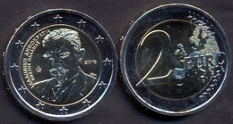Greece 2 Euro 2018 UNC > 75 Years Since The Death Of Kostis Palamas - Grecia