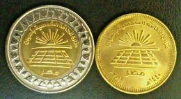 EGITTO EGYPT 1 POUND+ 50 PIASTRE 2019 COMMEMOTATIVE ASWAN SOLAR ENERGY PLANTS UNC - Egitto