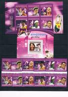 Bloc Sheet + Serie Set  Jeux Olympiques Pekin  JO  Olympics  Games    Neuf MNH **  Comores Comoros 2010 - Summer 2004: Athens - Paralympic