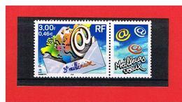 FRANCE - 2000 - N°3365 - NEUF** - 3ème MILLENAIRE AVEC VIGNETTE MEILLEURS VOEUX  - Y & T - COTE : 1.50 Euros - France
