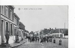 1 Cpa Leuze. Place Du Jeu De Balle :grande Animation, Magasin : Au Turco (vente Pommes De Terre) - Leuze-en-Hainaut