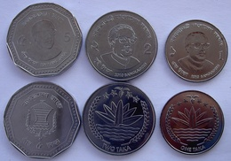 BANGLA DESH 2010-2012 SERIE 3 MONETE 5-2-1  TAKKA NEW. - Bangladesh