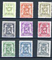 BE  PRE493 - 501   ---   Surcharge D  --  X  --  Faible Charnière  --  Etat Parfait... - Typo Precancels 1936-51 (Small Seal Of The State)