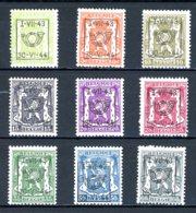 BE  PRE502 - 510   ---   Surcharge D  --  XX  --  Etat Parfait... - Typo Precancels 1936-51 (Small Seal Of The State)
