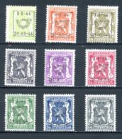BE  PRE511 - 519   ---   Surcharge D  --  XX  --  Etat Parfait... - Typo Precancels 1936-51 (Small Seal Of The State)