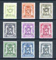 BE  PRE520 - 528   ---   Surcharge D  --  XX  --  Etat Parfait... - Typo Precancels 1936-51 (Small Seal Of The State)