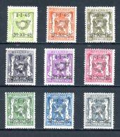 BE  PRE529 - 537   ---   Surcharge D  --  XX  --  Etat Parfait... - Typo Precancels 1936-51 (Small Seal Of The State)
