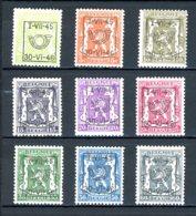 BE  PRE538 - 546   ---   Surcharge D  --  XX  --  Etat Parfait... - Typo Precancels 1936-51 (Small Seal Of The State)