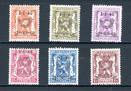 BE  PRE547 - 552   ---   Surcharge D  --  XX  --  Etat Parfait... - Typo Precancels 1936-51 (Small Seal Of The State)