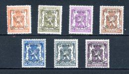 BE  PRE553 - 559   ---   Surcharge D  --  XX  --  Etat Parfait... - Typo Precancels 1936-51 (Small Seal Of The State)