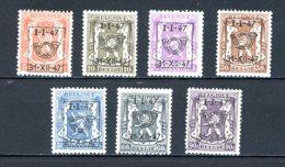 BE  PRE560 - 566   ---   Surcharge D  --  XX  --  Etat Parfait... - Typo Precancels 1936-51 (Small Seal Of The State)